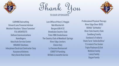 20th Annual Golf Sponsors